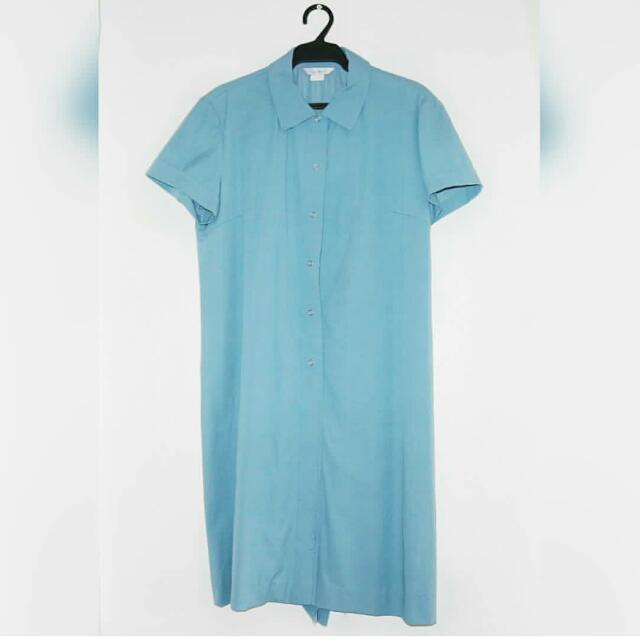Light Blue Button Down Dress