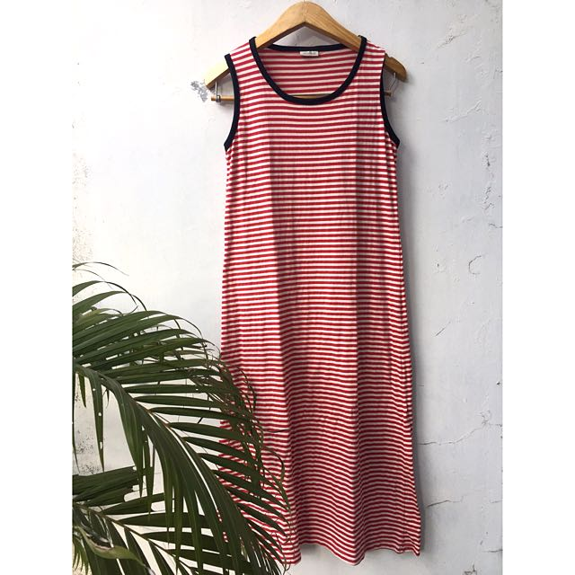 🌸long dress stripe