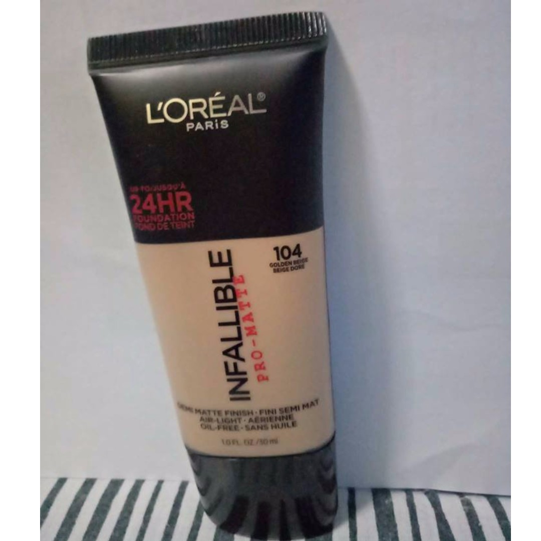 Loreal Infallible Pro Matte Foundation Health Beauty Makeup On Paris Carousell