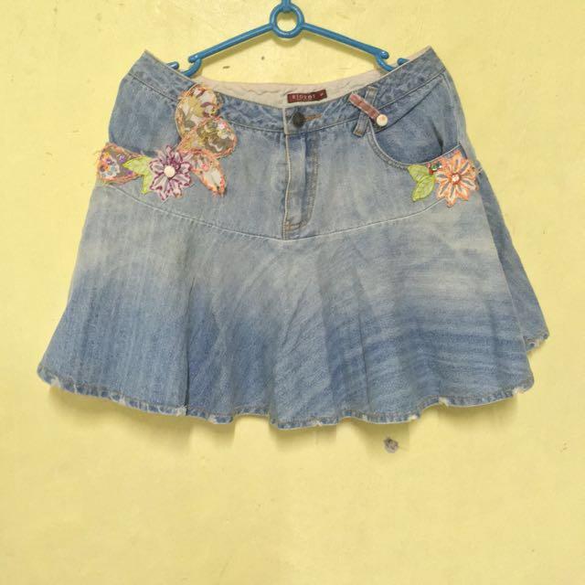 Low waist Maong Skirt