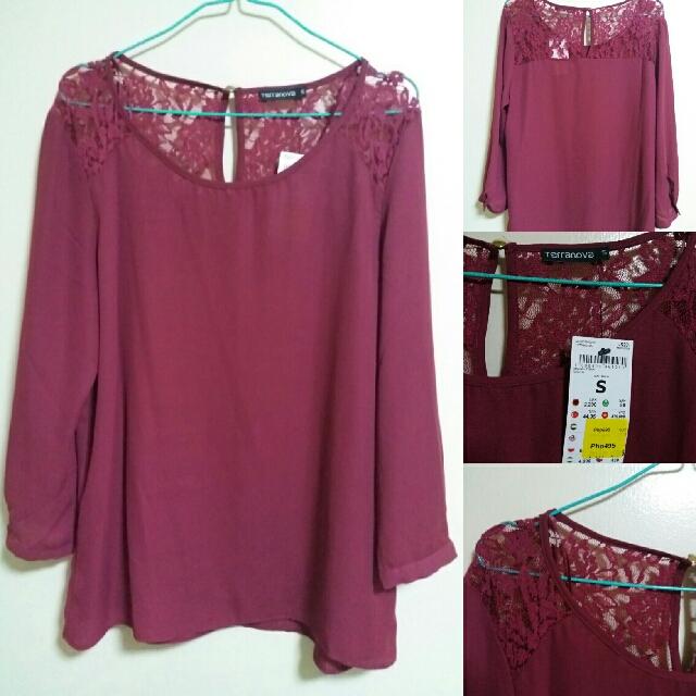 Maroon Terranova blouse