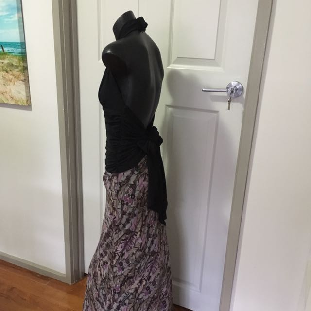 Martini Black and Purple Gown size 10