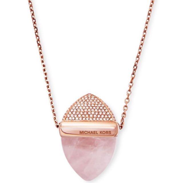 Michael Kors Gold Pave Pendant Necklace