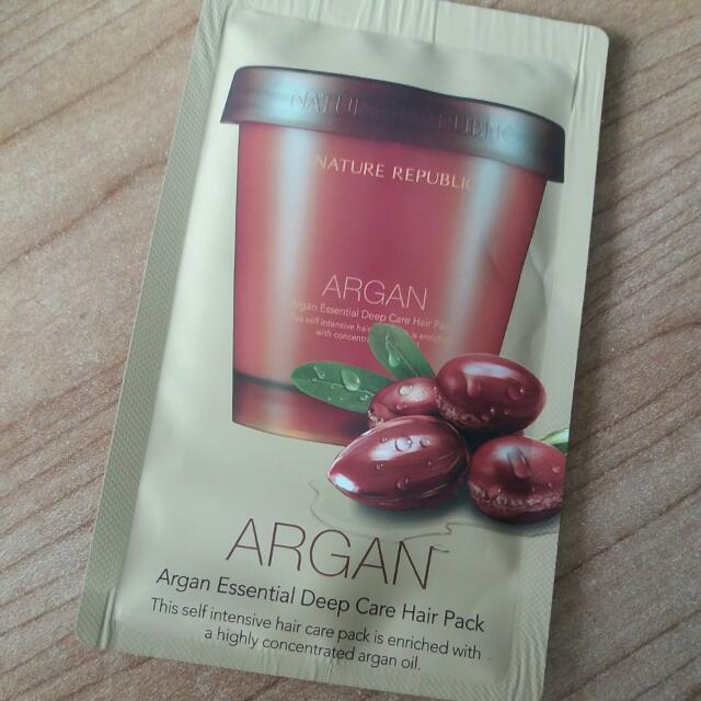 Nature Republic Argan Essential Deep Care Hair Pack (sachet)