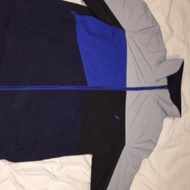Nautica jacket grey blue