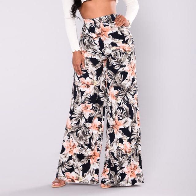 Navy And Floral Pants