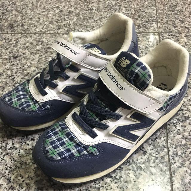 new balance 格紋童鞋