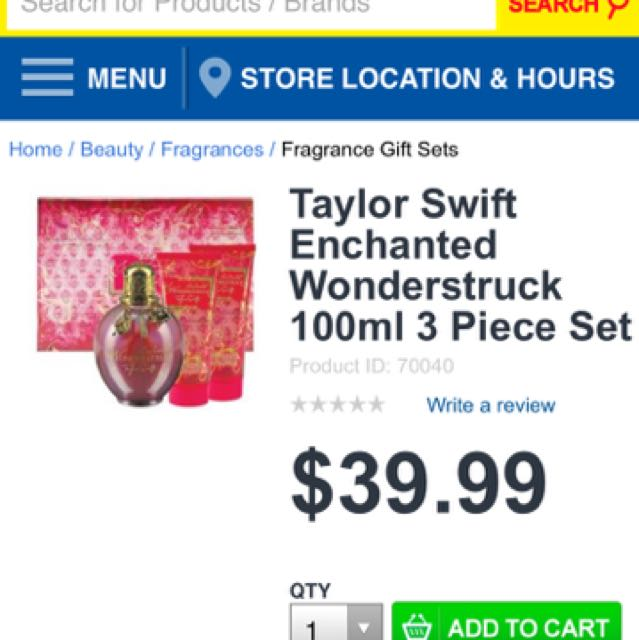 NEW Taylor Swift Wunderstruck Gift Set