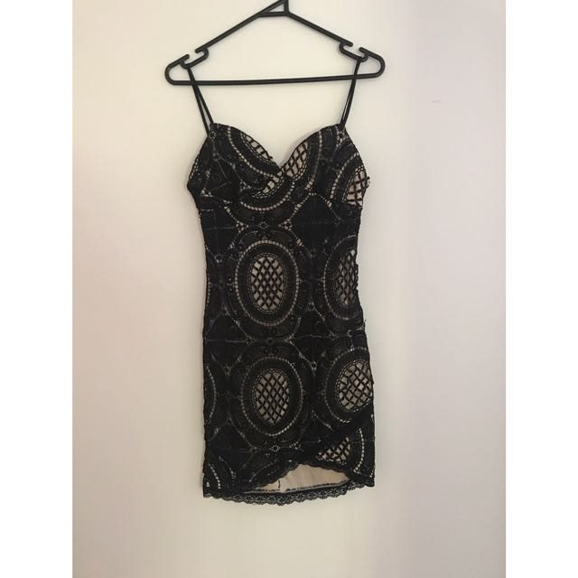 NOUGHTS AND CROSSES LACE DRESS