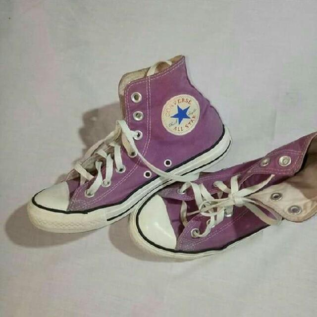 ORIGINAL Purple High-cut Converse Sneakers