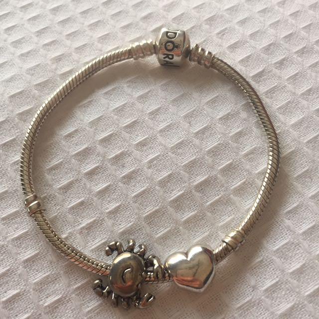 Pandora Charm Bracelet + Charms