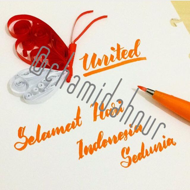 Paper Quilling And Lettering Gift