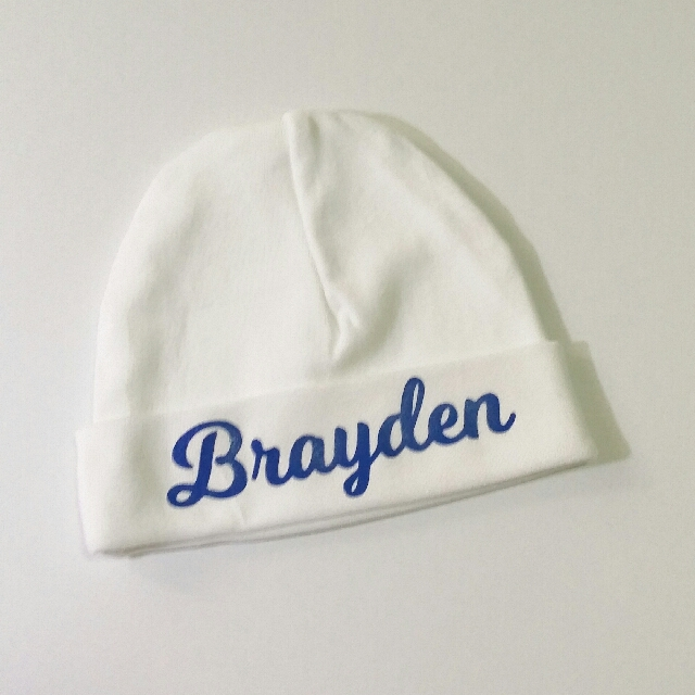 148381571c5a7 Personalised BABY HAT with NAME