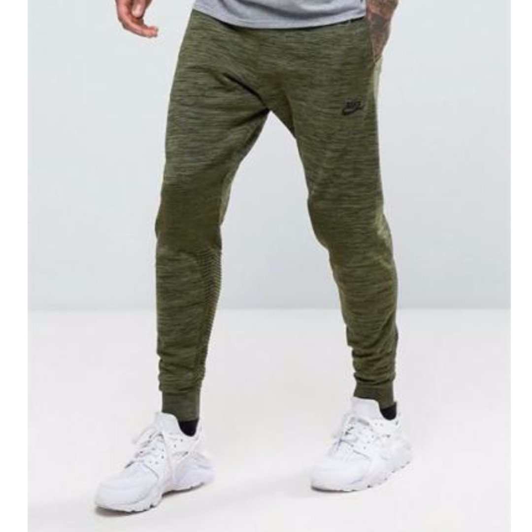 8a0a5b3d95cc PO) Nike Mens Tech Knit Jogger Pants Olive