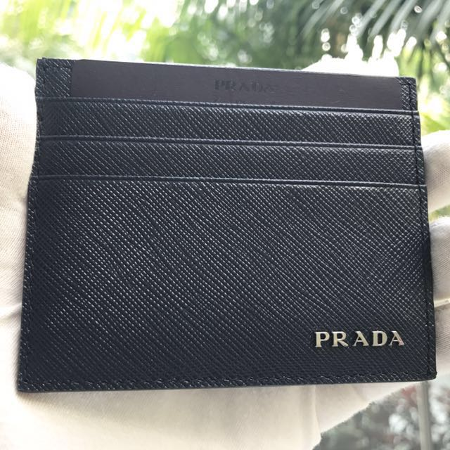 677218193834 ... greece prada baltico dark blue black saffiano leather card holder wallet  100 authenticbrand new 2mc223 luxury
