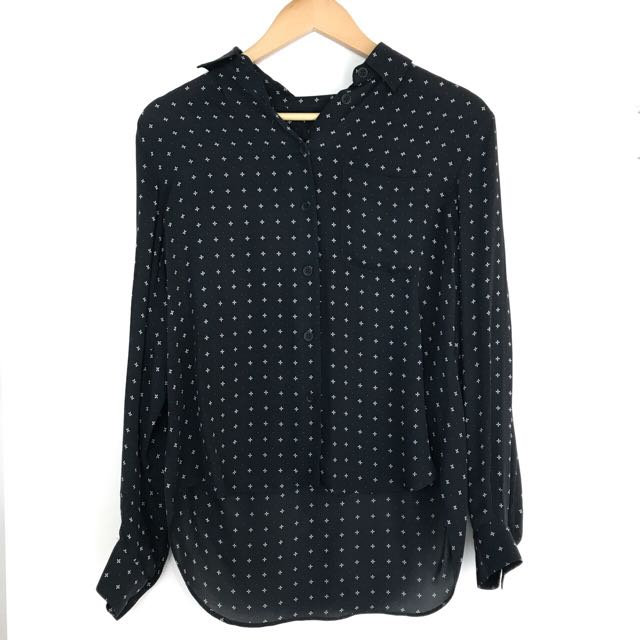 Rag & Bone Navy Silk Shirt