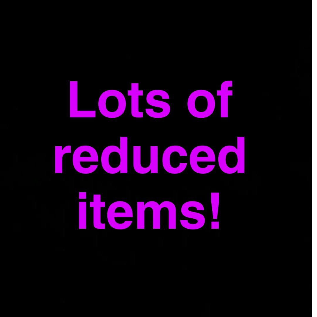 Reduced items on my profile!