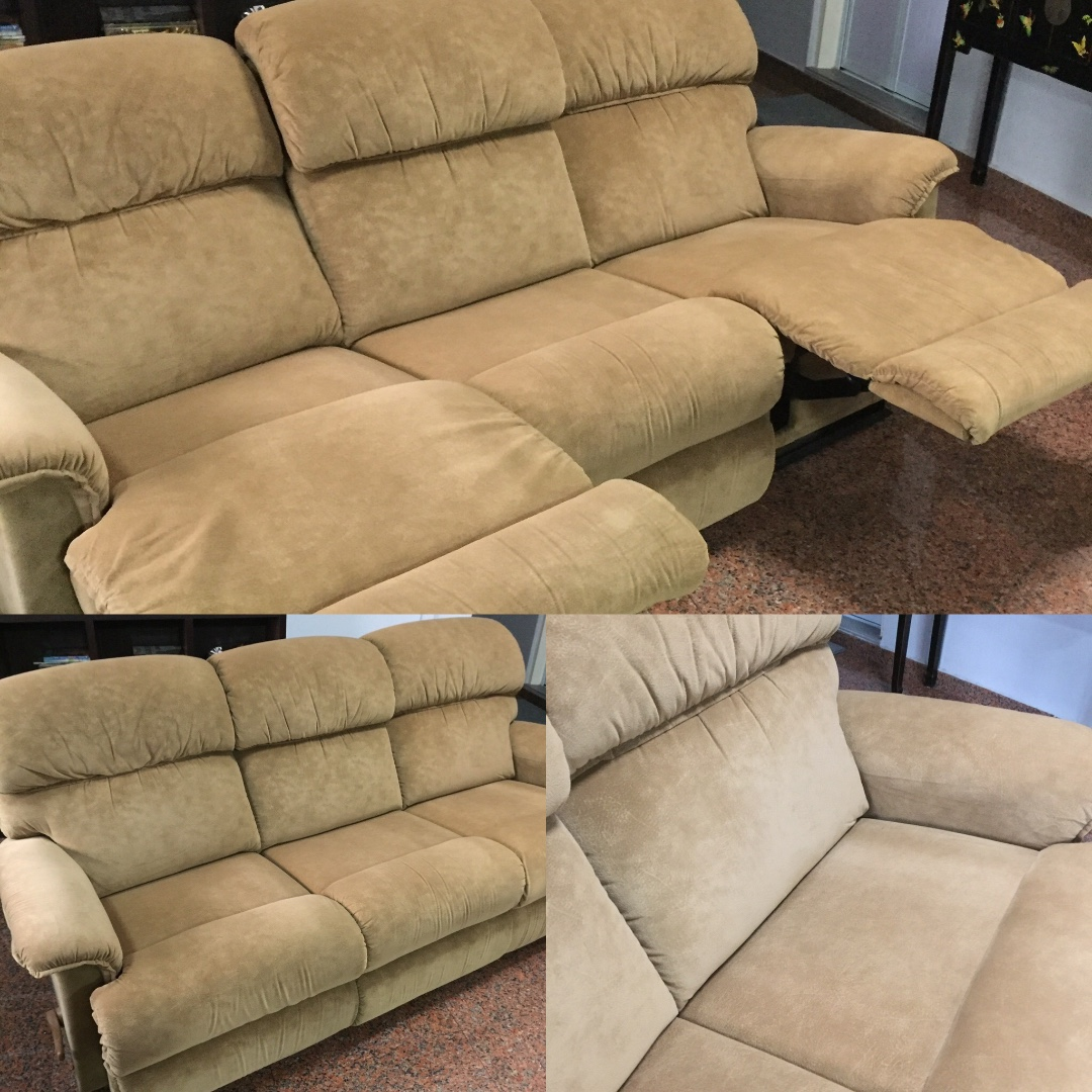 Lazyboy 3 Seater Camel Collared Ultra