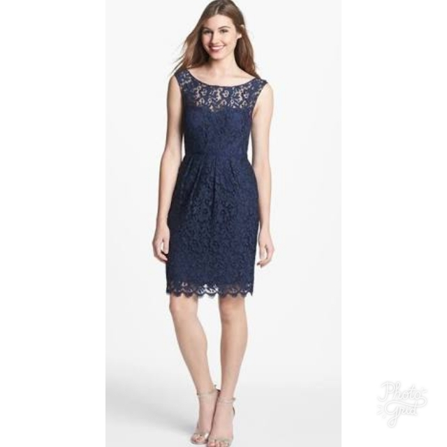 Short Blue Lace Dress