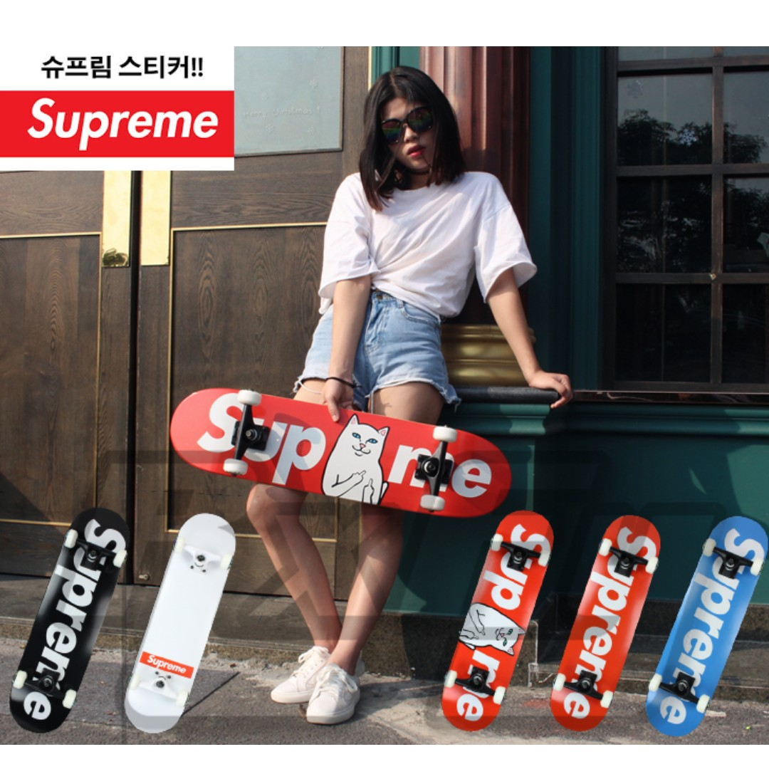 SUPREME Skateboard DIY Custom Deck, Grip Tape, Bridge, Wheel Led