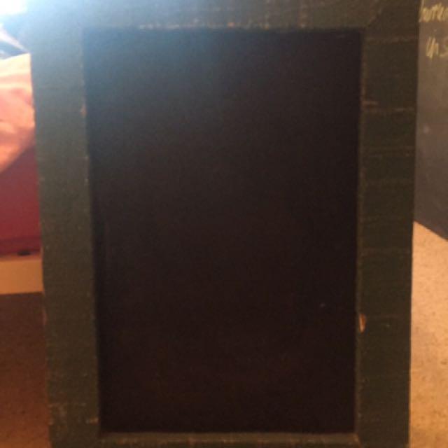 Teal Framed Chalk Board