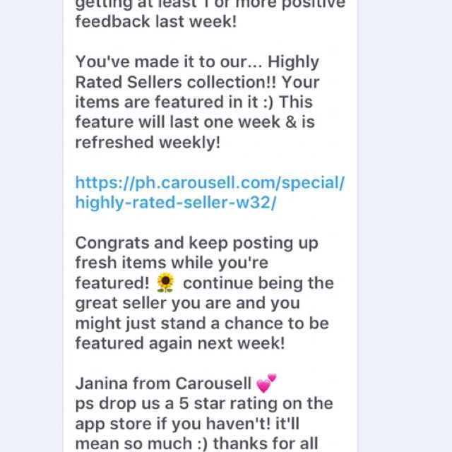 Thank You Carousell! #TrustedSeller