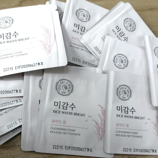 The Faceshop Rice Water Bright Cleansing Foam (sachet)