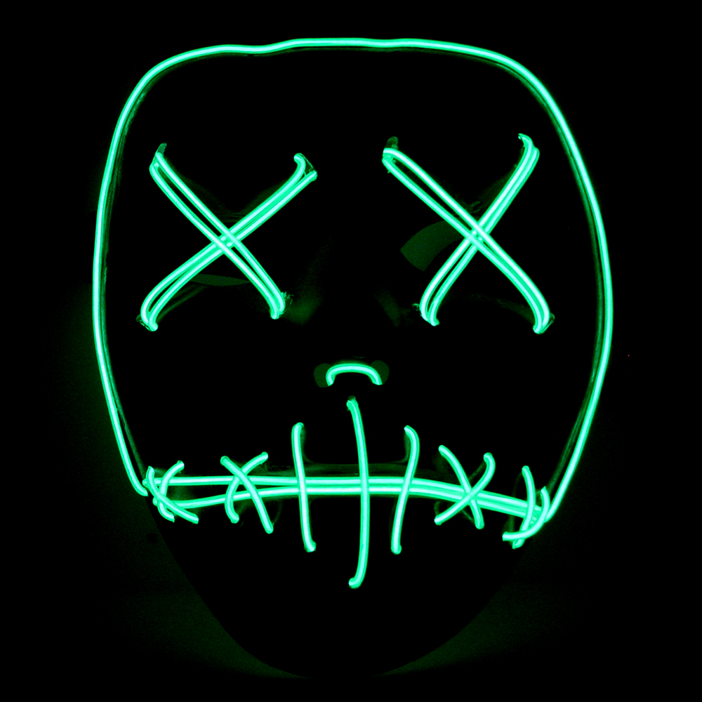 The Purge Movie EL Wire DJ Party Festival Halloween Costume Neon ...