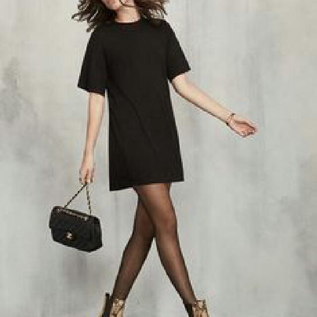 The Reformation Black Tshirt Dress