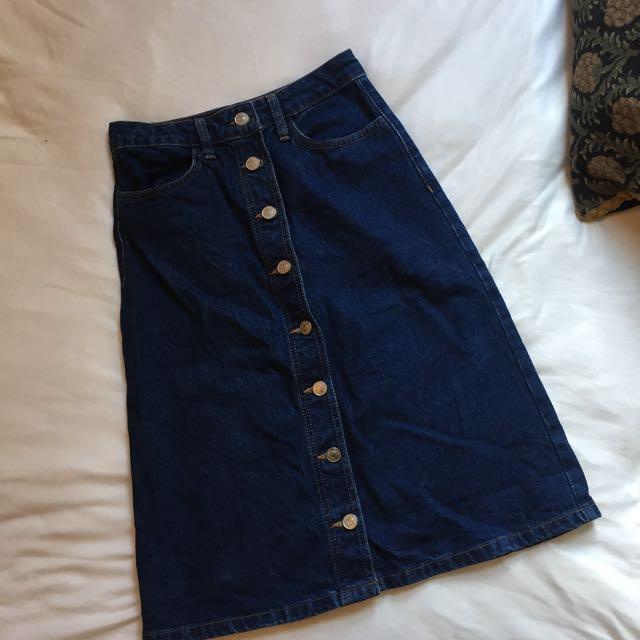 Top Shop Denim Skirt