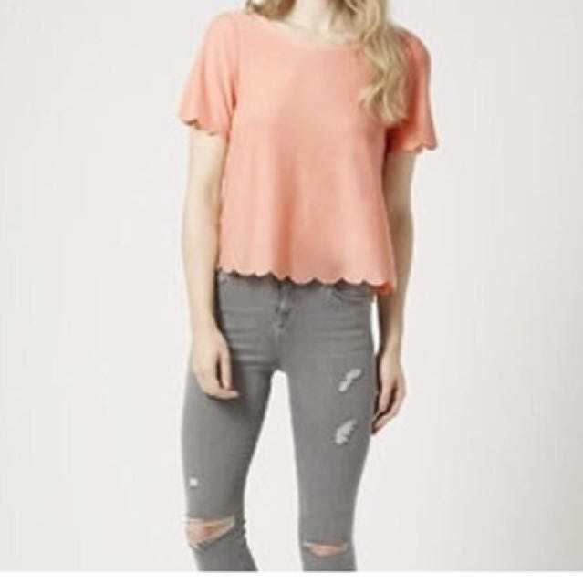 Topshop Scallop Frill Tee