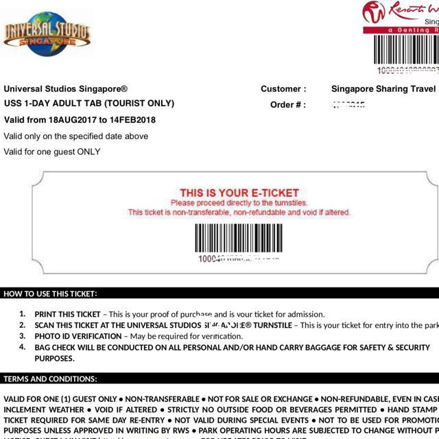 On 5 With Carousell E-ticket Retail Uss tourist Entertainment Date Attractions amp; Adult Voucher Meal Open