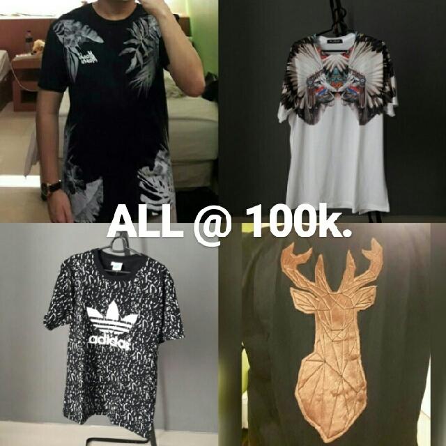 Various Print/Stitch T-Shirts [New]