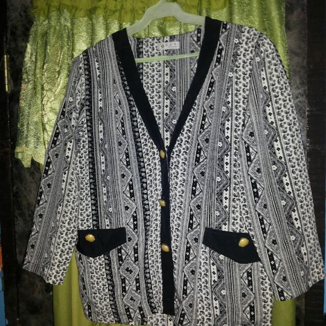 Plus Size Vintage Blazer/Cardigan