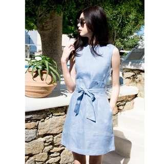 正韓水藍洋裝