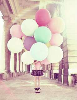 Plain Round Balloons (12 inches)