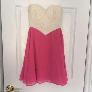 Strapless open back dress