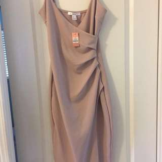 Fitted Nude Dress