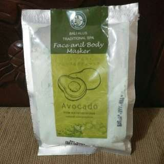 Bali Alus Face And Body Masker (avocado)