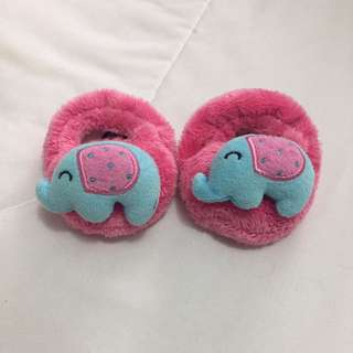 Pink & Blue Baby House Slippers