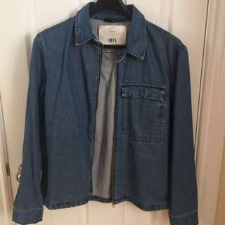 Zara Man Denim Overshirt - BLUE Sz. L