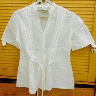 White Shirt Semi Kimono