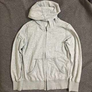 Uniqlo Grey/Gray Hoodie Jacket