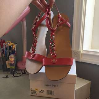 WORN ONCE Nine West sandals size 7