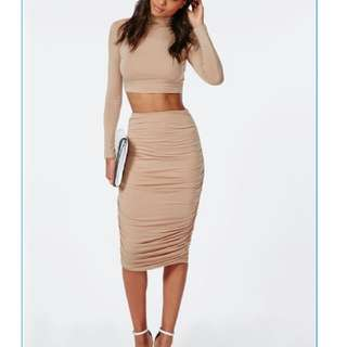 Size S - Supre Crop Top & High Waist Skirt