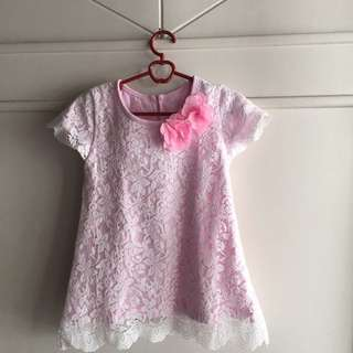 dress flower pink 1+yearold