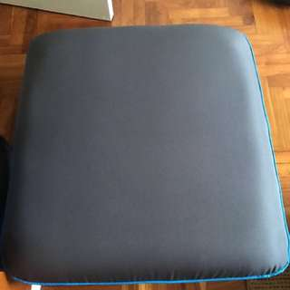 Grey blue color small sofa / stool