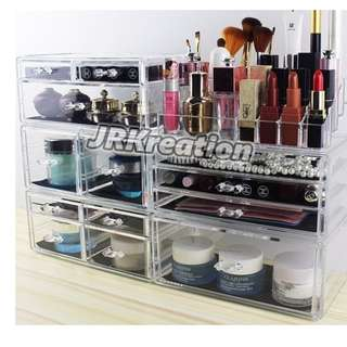 *FREE DELIVERY* Acrylic Makeup Organizer with drawers