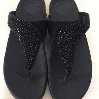 鑲鑽夾腳托鞋