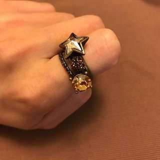 正韓 復古造型戒指(四件組)古銅色